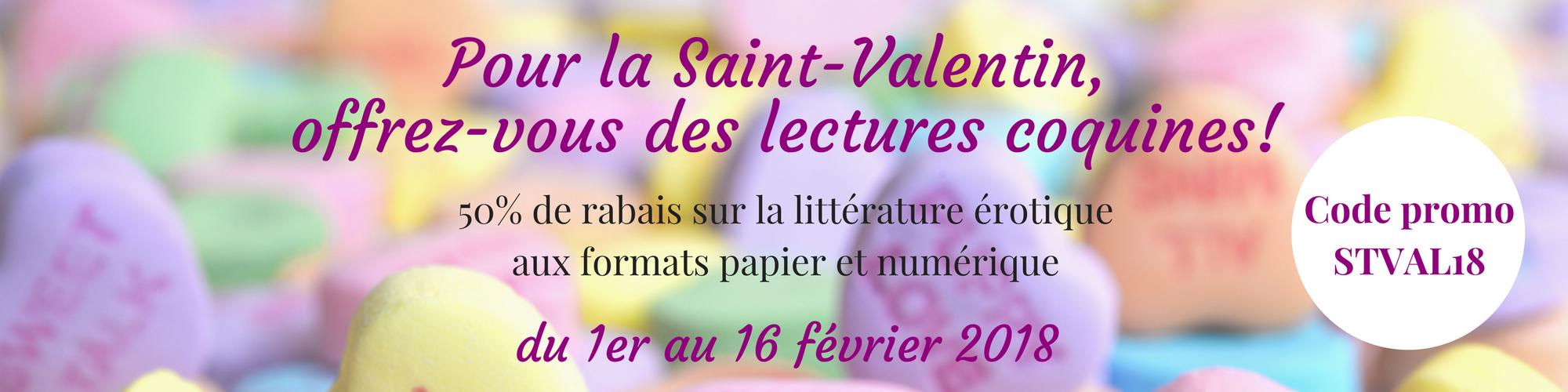 saint-valentin littérature érotique rabais promo